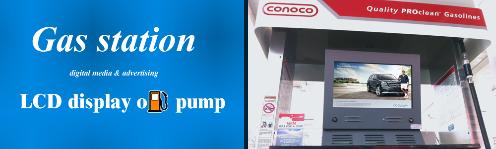 Gas pump dual-screen video display