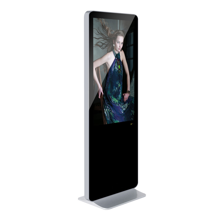 46 inch iPhone Shape Standing LCD Advertising Display Kiosk