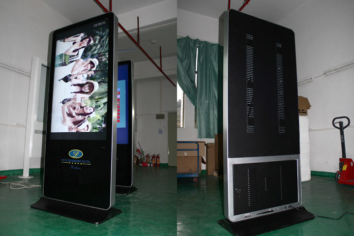 55inch iPhone style LCD digital signage kiosk