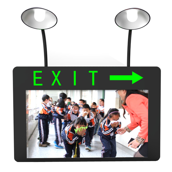 Safe Instructions Digital Signage With Emergency Lights LM17.3-WMD1